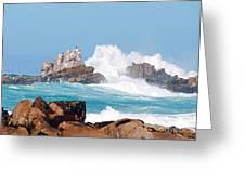 Monterey Bay Waves Greeting Card by Artist and Photographer Laura Wrede