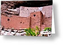 Montezuma Castle Greeting Card by Bob and Nadine Johnston