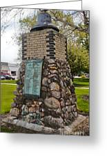 Montezuma Iowa Court House Monument Greeting Card by Gregory Dyer