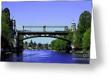 Montlake Bridge 2 Greeting Card by Cheryl Young