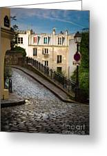 Montmartre Alley Greeting Card by Inge Johnsson