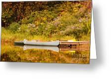 Montpelier Canoe Greeting Card by Deborah Benoit