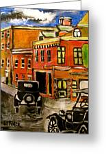 Montreal Then Greeting Card by Michael Litvack