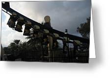 Montu Roller Coaster - Busch Gardens Tampa - 01139 Greeting Card by DC Photographer