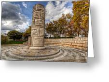 Monument To The Peoples Struggles Greeting Card by English Landscapes