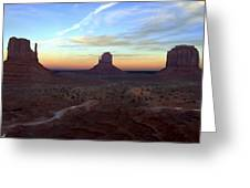 Monument Valley Just After Sunset Greeting Card by Mike McGlothlen