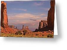 Monument Valley - Mars-like Terrain Greeting Card by Christine Till