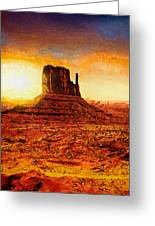 Monument Valley Greeting Card by Mo T