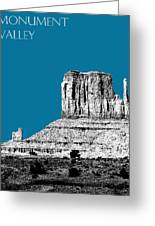Monument Valley - Steel Greeting Card by DB Artist