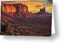 Monument Valley Sunrise Greeting Card by Priscilla Burgers