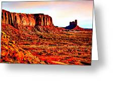 Monument Valley Sunset By Bob Johnston Greeting Card by  Bob and Nadine Johnston