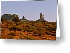 Monument Valley - Unusual Landscape Greeting Card by Christine Till