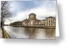 Moody Winter Day On Inns Quay In Dublin Greeting Card by Mark Tisdale