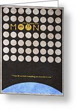Moon Greeting Card by Ayse Deniz