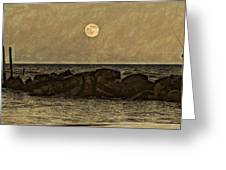 Moon Fishing Greeting Card by Steven Parks