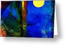 Moon In My Window Greeting Card by Gun Legler