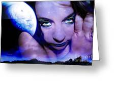 Moon intoxication Greeting Card by Heather King
