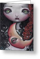 Moon Keeper Greeting Card by  Abril Andrade Griffith