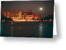 Moon Over Udaipur Greeting Card by Steve Harrington