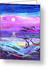 Moon Pathway Greeting Card by Jane Small