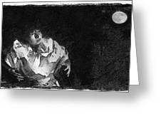 Moon Shadow Greeting Card by George Rossidis
