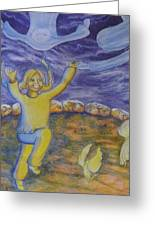 Moonchild - In Paradise Greeting Card by Jacquelyn Roberts