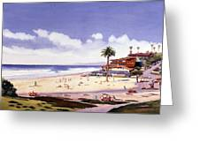 Moonlight Beach Encinitas Greeting Card by Mary Helmreich