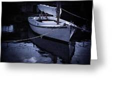 Moonlight Sail Greeting Card by Amy Weiss