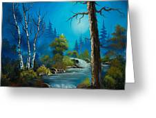 Moonlight Stream Greeting Card by C Steele