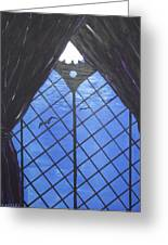 Moonlight Through The Window Greeting Card by Martin Blakeley