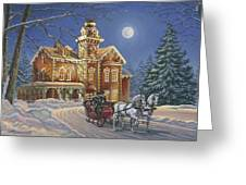 Moonlight Travelers Greeting Card by Richard De Wolfe