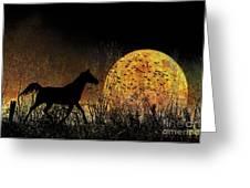 Moonrise Trot Greeting Card by Karen Slagle