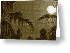 Moons Glow Greeting Card by Gilbert Artiaga