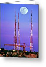 Moontowers Greeting Card by Benjamin Yeager