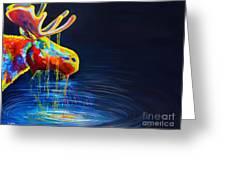 Moose Drool   Greeting Card by Teshia Art
