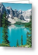 Moraine Lake 4 Greeting Card by Shirley Sirois