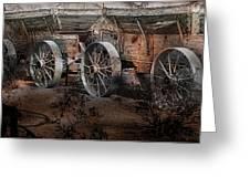 More Wagons East Greeting Card by Gunter Nezhoda