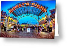 Moreys Piers In Wildwood Greeting Card by Mark Miller