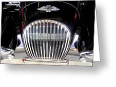 Morgan Sports Car Grille Greeting Card by Don Struke