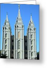 Morman Temple Greeting Card by Kathleen Struckle