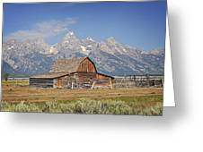 Mormon Barn 2 Greeting Card by Marty Koch