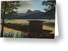 Morning At Lake Mcdonald Glacier Park Greeting Card by Frank Hunter