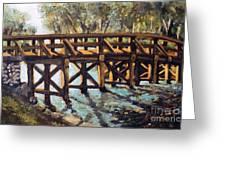 Morning At The Old North Bridge Greeting Card by Rita Brown