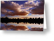Morning At The Reservoir New York City Usa Greeting Card by Sabine Jacobs