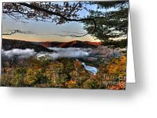 Morning Cheat River Valley Greeting Card by Dan Friend