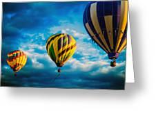 Morning Flight Hot Air Balloons Greeting Card by Bob Orsillo