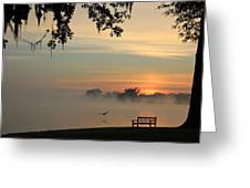 Morning Flight Greeting Card by Leslie Kirk