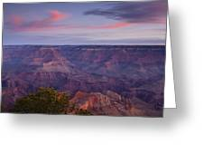 Morning Hike Into The Grand Canyon Greeting Card by Andrew Soundarajan
