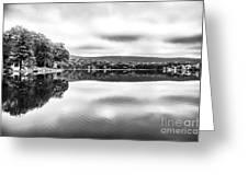 Morning Lake View Greeting Card by John Rizzuto