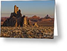Morning Light At Church Rock Greeting Card by Sandra Bronstein